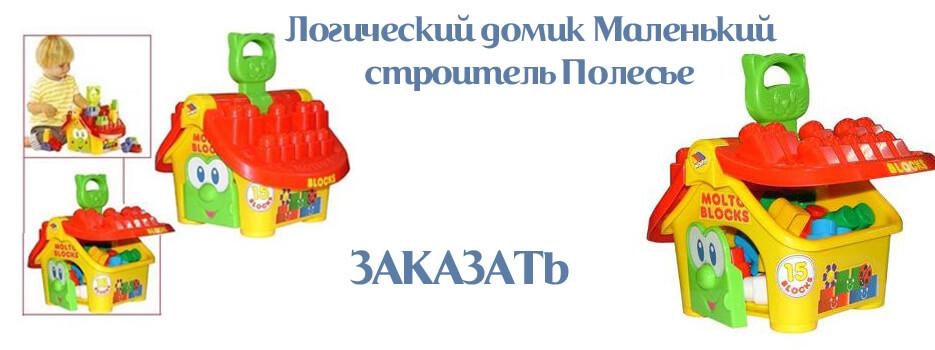Логический домик Маленький строитель Полесье