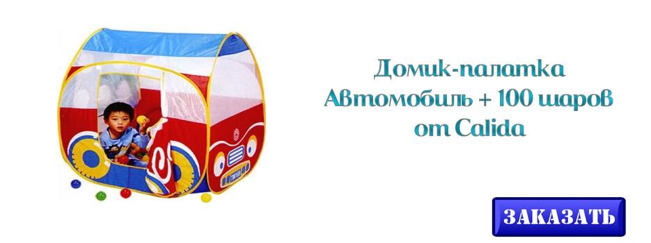 Домик-палатка Автомобиль и 100 шаров от Calida