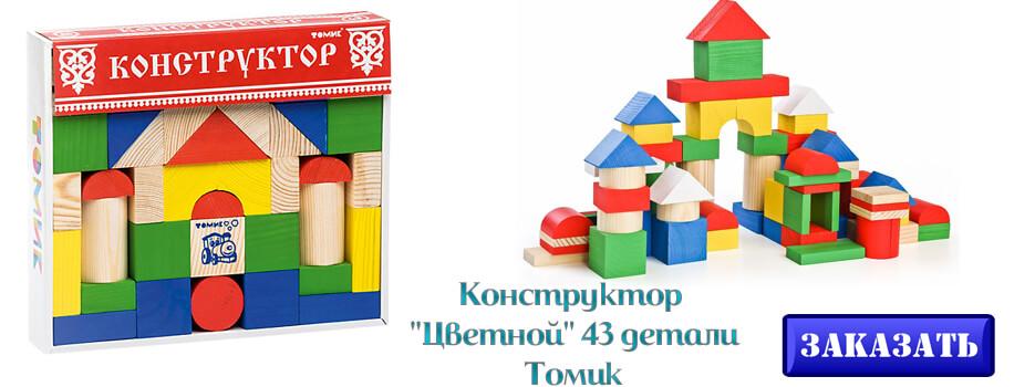 Конструктор Цветной 43 детали Томик